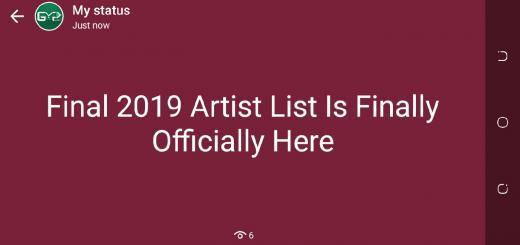 Final 2019 Artist List Is Finally Here