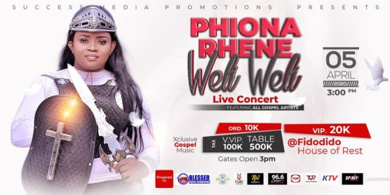 Phiona Rhene In Weli Weli Live Concert