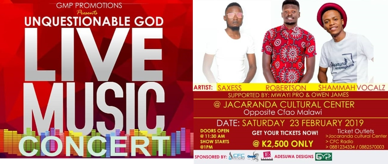 Unquestionable God LIVE MUSIC CONCERT