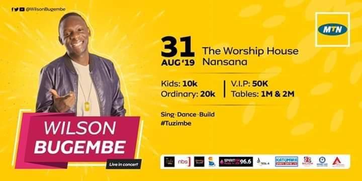 Pastor Bugembe in Tuzimbe Concert