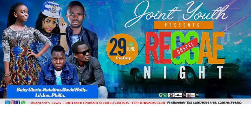 JOINT YOUTH PRESENTS GOSPEL REGGAE NIGHT