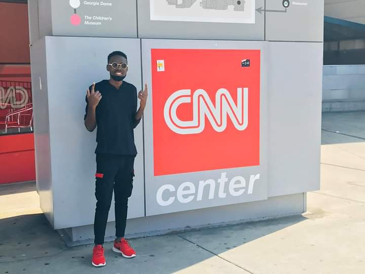 Samie Smilz a Ugandan Gospel Artist at CNN Centre