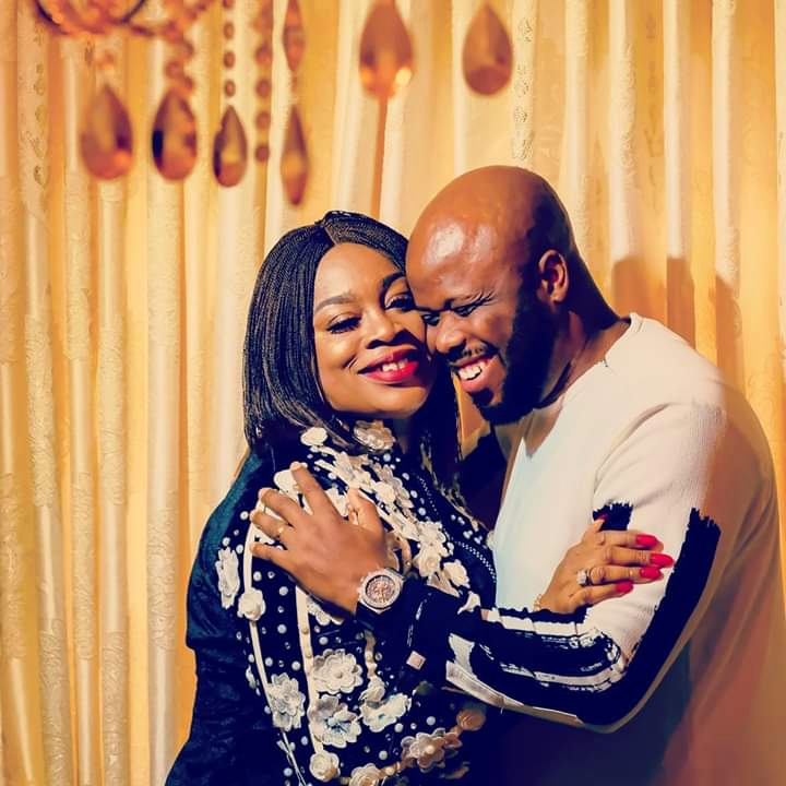 Sinach with a child after 5 years in marriage
