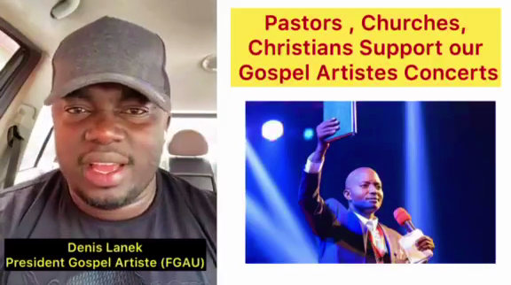 "Why Don't You Support Gospel Artists ""Pastors""- President of the Federation of Gospel Artists Uganda Afande Lanek In The Video"