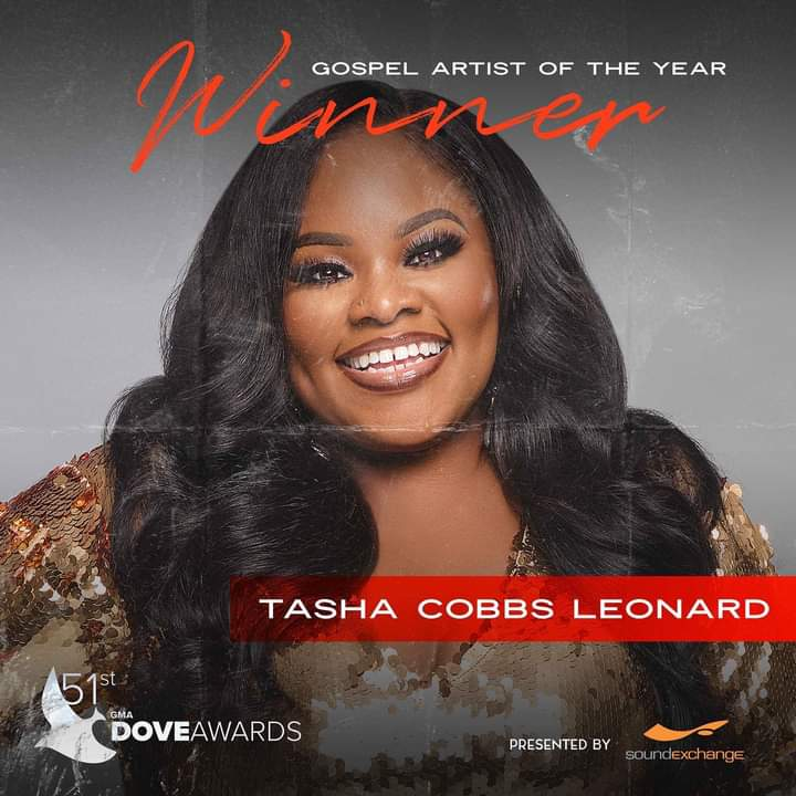 Tasha Cobbs bags the Gospel Artist of the Year Award