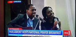 Price Love leads worship at the National Prayer Breakfast