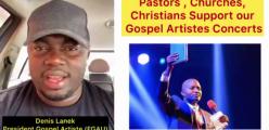 "Why Don't You Support Gospel Artists ""Pastors""- President of the Federation of Gospel Artists Uganda Afande Lanek In The Video"