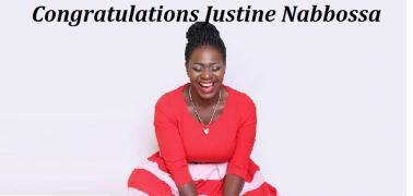 Congratulations Justine Nabbossa