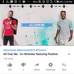 All Over Me by Dj Nicholas ft Positive | Music Download mp3
